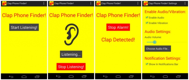 clap phone finder aplikacija