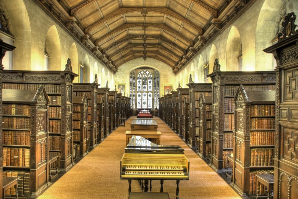 Library of St. John's College, Cambridge, Britain