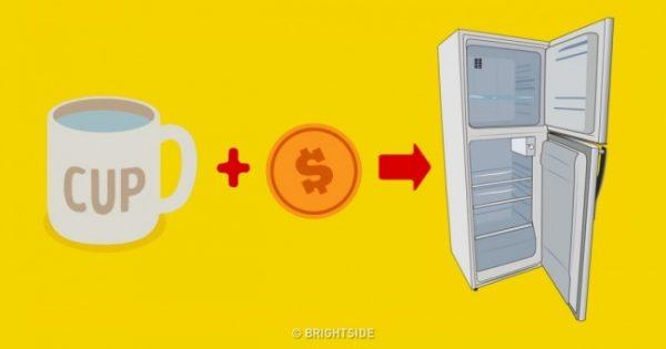 novčić u frižideru