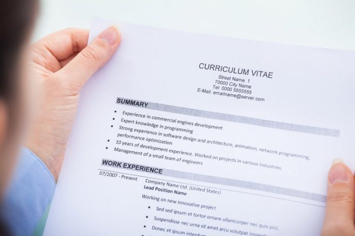 greške kod pisanja CV-a