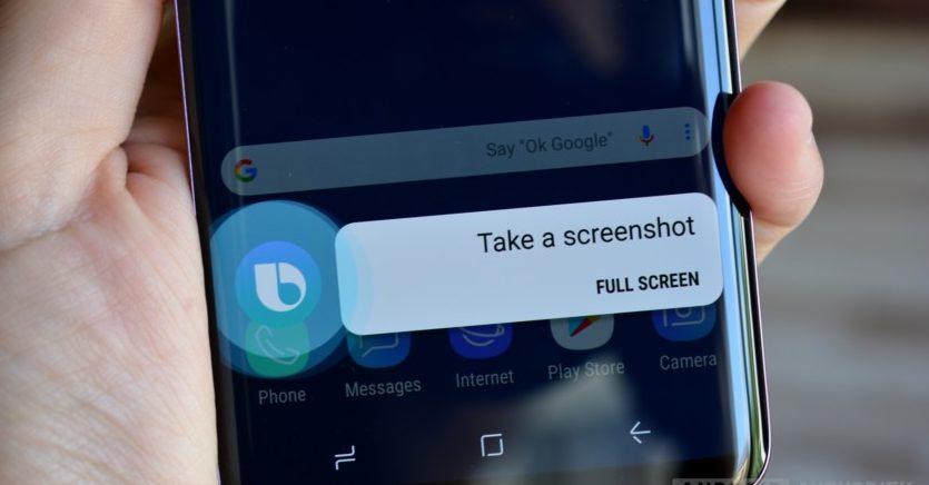 Kako uslikati ekran na Samsung S9 i S9 Plus - bixby
