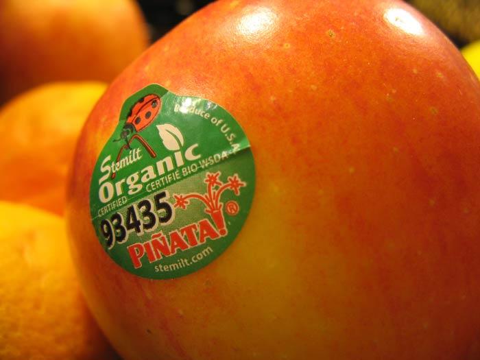 brojevi na naljepnicama voća