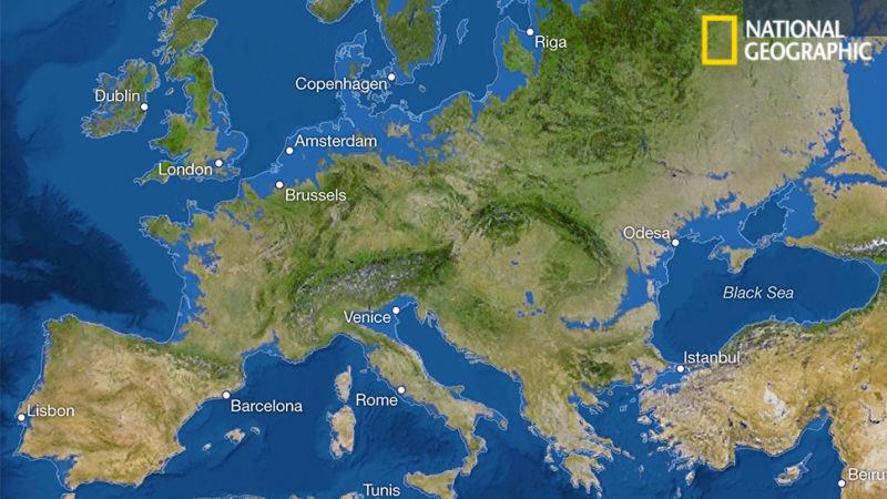 Kako bi izgledala Evropa kada bi se sav led otopio