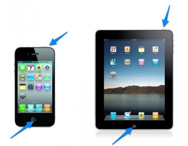 uslikati ekran na iPhone