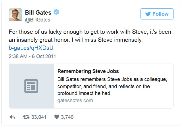 tvit bill gates steve jobs