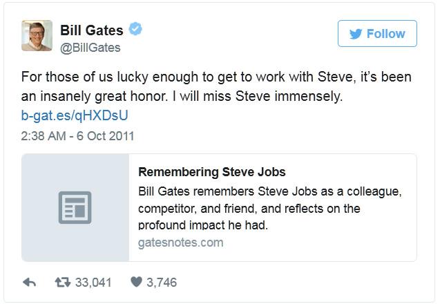 tvit bill gates steve jobs