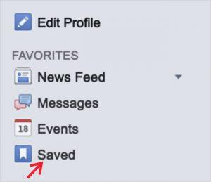 facebook saved