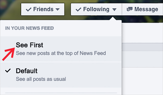 facebook vidi prvo