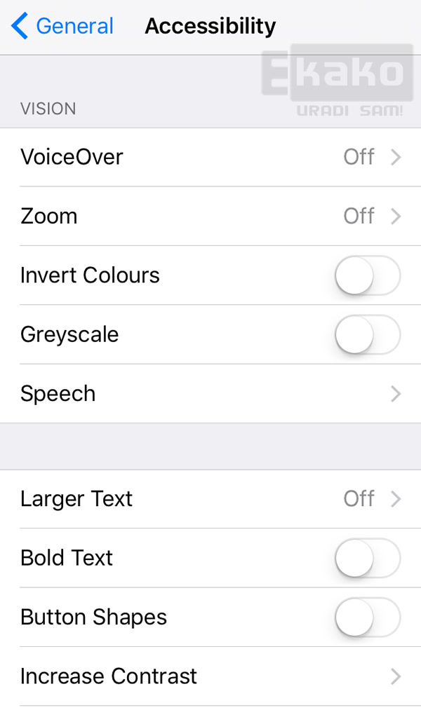 iphone menu invert colors
