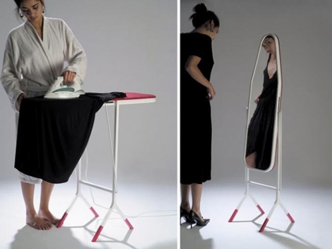 stol za peglanje i ogledalo