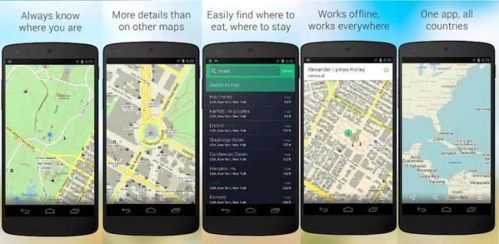 besplatne navigacione aplikacije - maps.me
