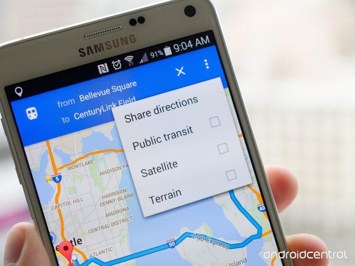 podijeliti rute preko Google Maps