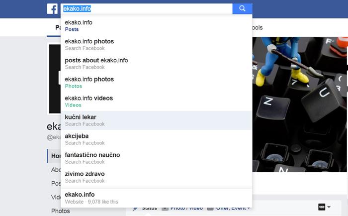 Facebook pretraga ne prikazuje slike