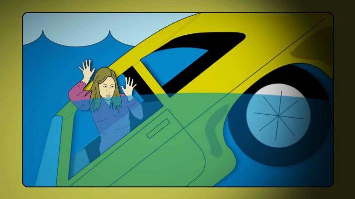 Kako se spasiti iz auta koje tone