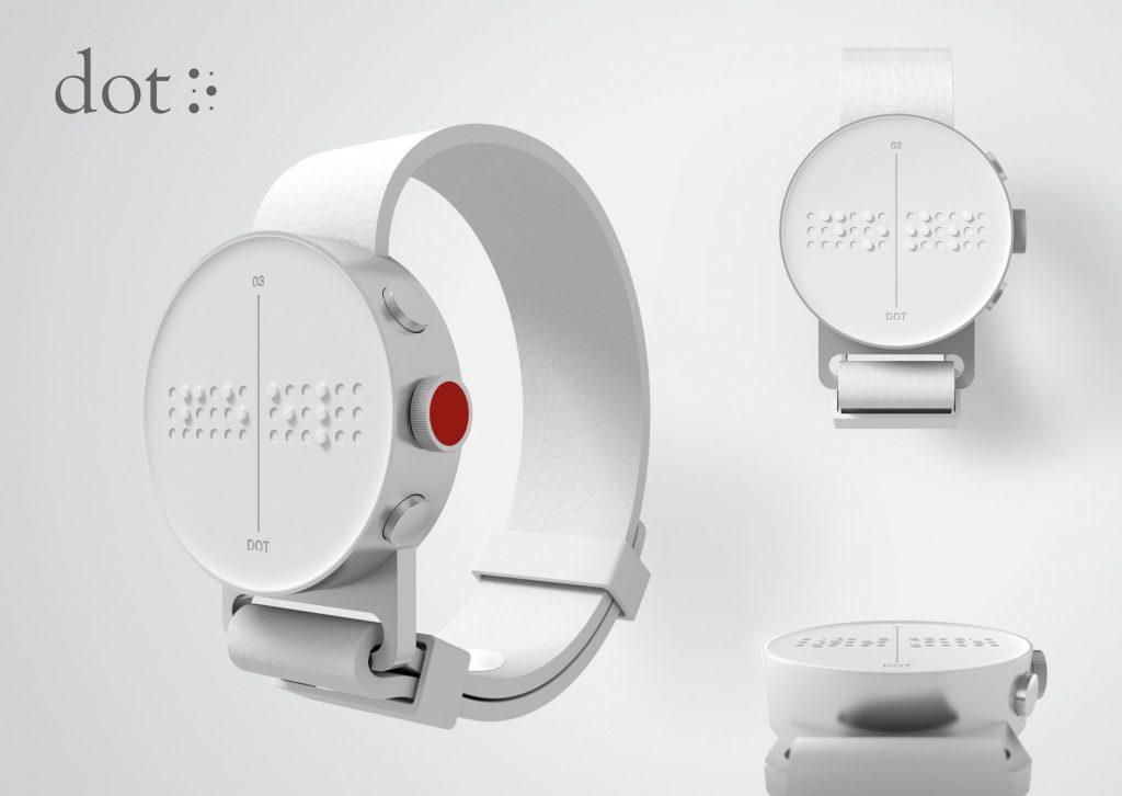 sat koji radi na Brailleovom pismu