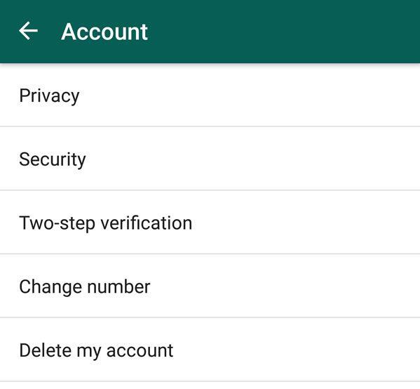 whatsapp savjeti - account