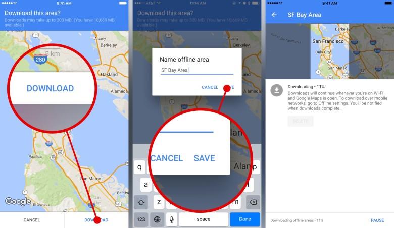 Kako koristiti Google Maps offline