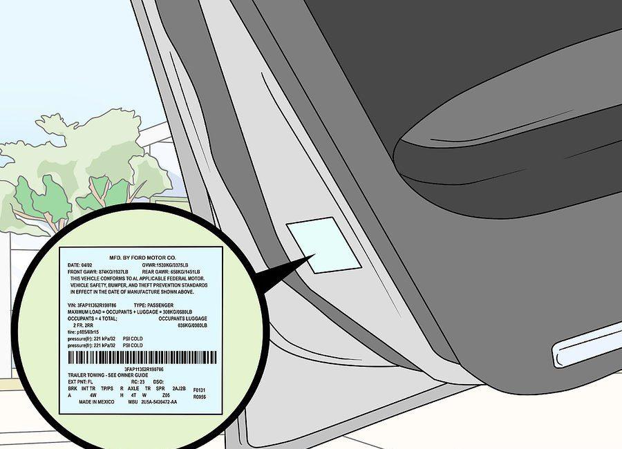 Kako u autu naći serijski broj boje