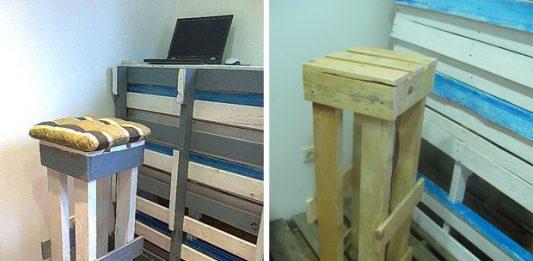 Kako napraviti barske stolice od paleta