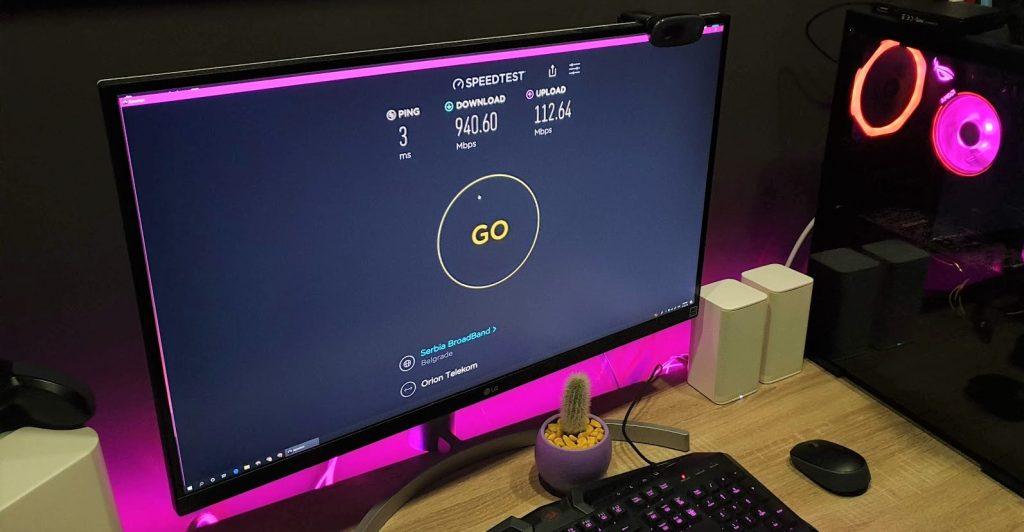 Brzina optičkog interneta