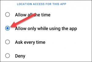 pristup lokaciji - opcije